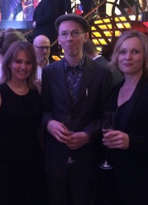 With fellow judge Freya North & author Jon McGregor